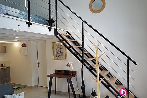 Location de meublé : POITIERS SUD Appartement plein-pied avec mezzanine et terrasse privative