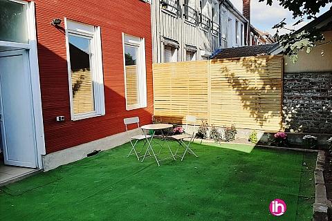 Location de meublé : VALENCIENNES T2 avec Jardin
