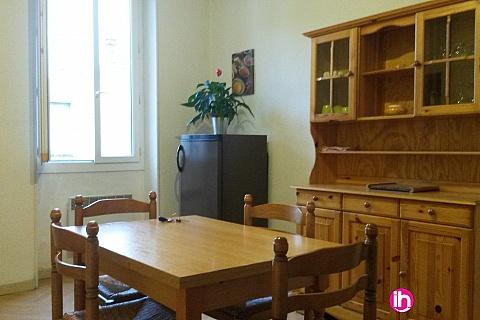 Location de meublé : Le Teil Rustique : Appartement F3 de 70m²  avec extérieurs.