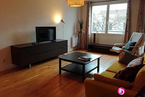 Location de meublé : Grand et agréable appartement dans Lyon