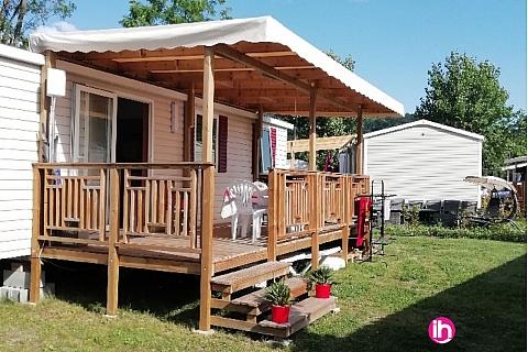 Location pour salarié en déplacement de meublé : CONDRIEU, SAINT ALBAN Mobil-home moderne et confortable en camping convivial