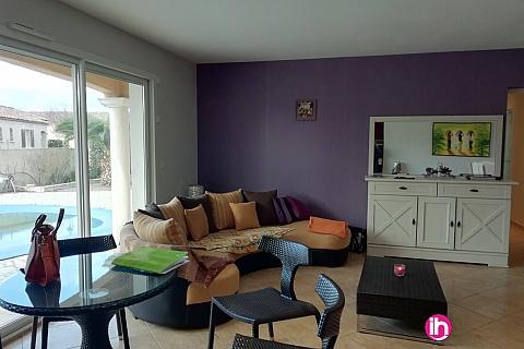 Location de meublé : MONTPELLIER Maison avec piscine 28 km de la mer à Canet