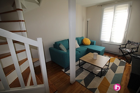 Location pour salarié en déplacement de meublé : LEVALLOIS-PERRET, duplex entièrement rénové, Lavallois-Perret