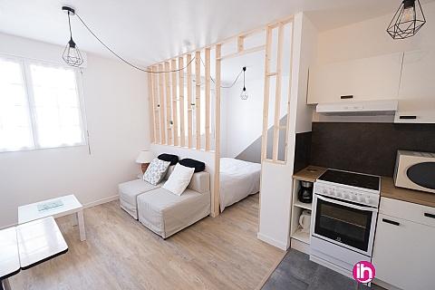 Location de meublé : BOULOGNE SUR MER Le blason studio spacieux avec parking privé & wifi