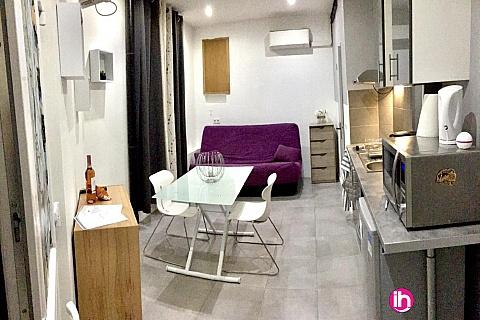 Location de meublé : Studio 4min à pied de la mer centre Nice