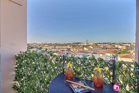 Location de meublé : NIMES, Luxueux appartement en centre ville,  Nîmes