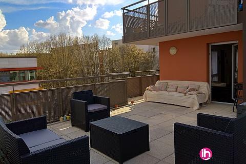 Location de meublé : SAINT-DENIS PARIS APPARTEMENT 2 CHAMBRES AVEC TERRASSE