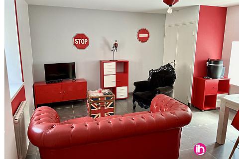 Location de meublé : FLAMANVILLE EPR  2 CHAMBRES gîte **meublé  1mm DE EPR