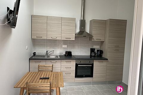 Location pour salarié en déplacement de meublé : BLAYAIS,appartement T1 neuf avec terrasse privée, Blaye