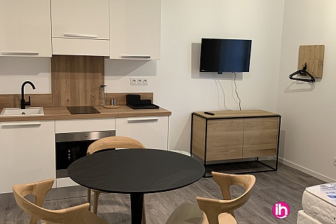 Location de meublé : THIONVILLE CATTENOM Appartement N° 3 neuf face gare 1 - 2 PERS  (- 15 m2)