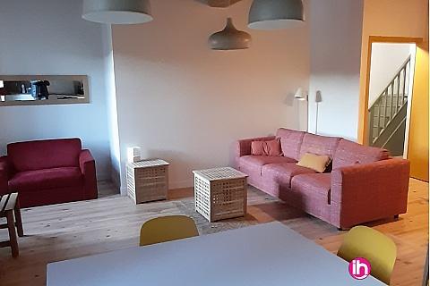 Location de meublé : Appartement meublé T3, vue sur Rhône au pied de la viarhôna