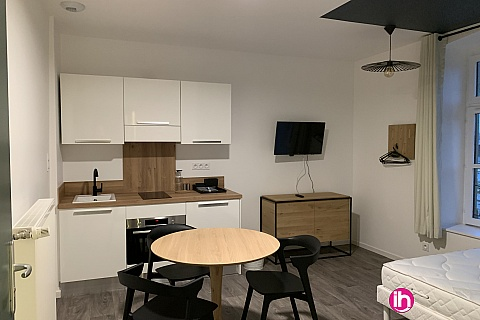 Location de meublé : THIONVILLE CATTENOM Appartement N 13 neuf face gare 1 - 2 PERS  (- 15 m2)