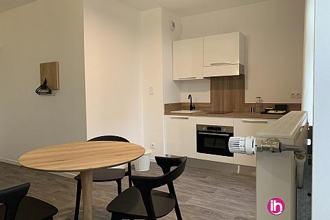 Location pour salarié en déplacement de meublé : THIONVILLE CATTENOM Appartement N° 15 neuf face gare 1 - 2 PERS  (+ 15 m2)