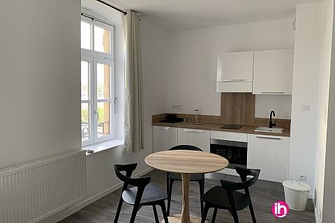 Location de meublé : THIONVILLE CATTENOM Appartement N° 24 neuf face gare 1 - 2 PERS  (+ 15 m2)