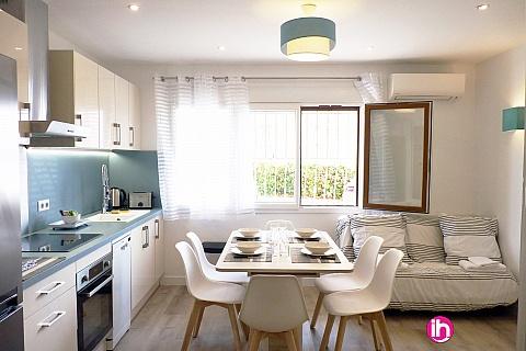 Location pour salarié en déplacement de meublé : CAGNES SUR MER Le Belvédère, 2 pièces moderne, plages à 400m