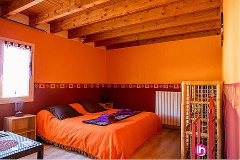 Location pour salarié en déplacement de meublé : CIVAUX CHAUVIGNYchambre capucine tout confort