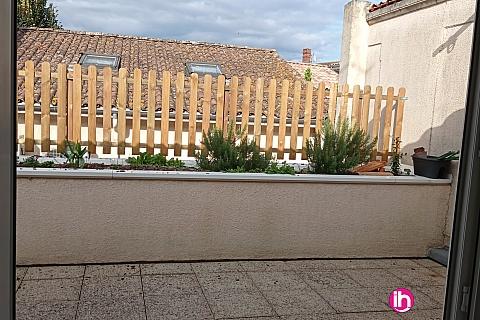 Location de meublé : LANGON ,centre ville avec terrasse
