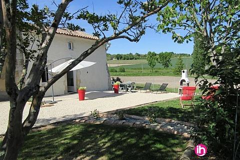 Location de meublé : BLAYAIS ,maison dans corps de ferme, SALIGNAC DE MIRAMBEAU