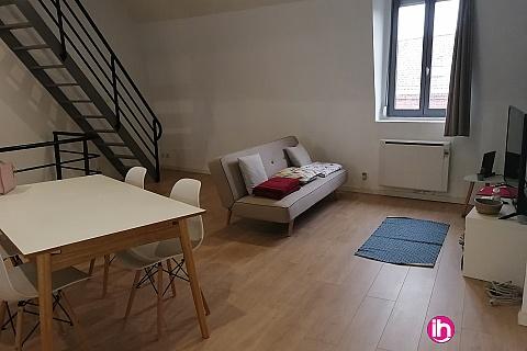 Location de meublé : LENS-LA BASSEE, LOFT ENTIEREMENT REFAIT A NEUF TYPE T2, La Bassée
