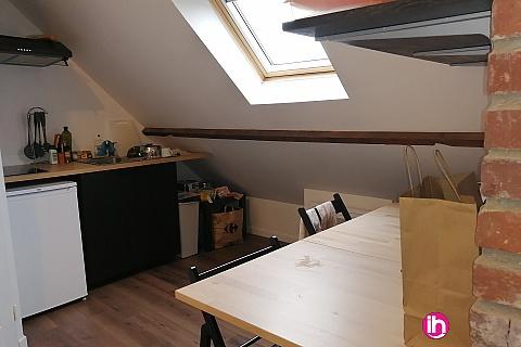 Location de meublé : LENS CHARMANT T1 REFAIT A NEUF avec déco loft