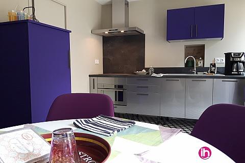 Location pour salarié en déplacement de meublé : CIVAUX-LUSSAC LES CHATEAUX :Très belle demeure entièrement rénovée en plein coeur de ville