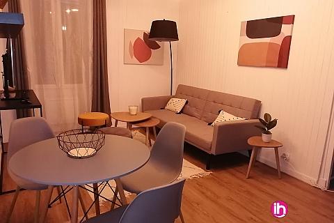 Location pour salarié en déplacement de meublé : DAMPIERRE - BELLEVILLE T2 en RDC en centre ville de BRIARE