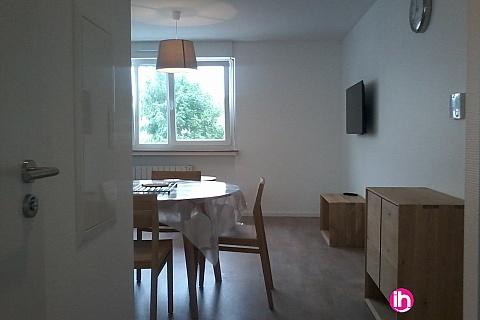 Location pour salarié en déplacement de meublé : CATTENOM THIONVILLE T2 25 1-2pers a 15-20mn a pieds de la Gare Bus Luxembourg