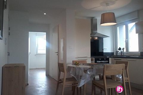 Location de meublé : CATTENOM THIONVILLE  Appartement T2 N° 5  1-2pers a 15-20mn a pieds de la Gare Bus Luxembourg