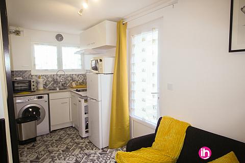 Location pour salarié en déplacement de meublé : FLINS-SUR-SEINE maisonnette avec mezzanine.