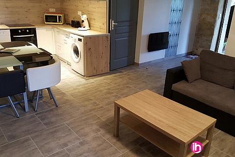 """Location de meublé : TRICASTIN Gîte meublé """"La Bergerie"""" tout équipé de 65 m² à GRAS"""