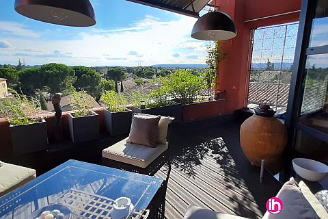 Location de meublé : Montpellier Appartement  avec terrasse parking privé à Fabregues