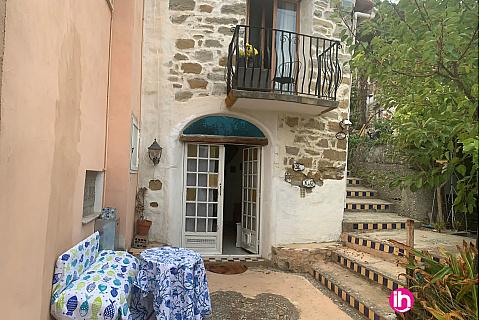 Location de meublé : 9 klms Monaco,2 Menton,vue mer ,calme