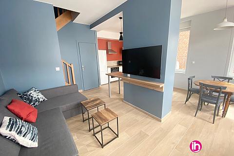 Location de meublé : CAMBRAI/ maison 3ch renovée recemment/ ESCAUDOEUVRE