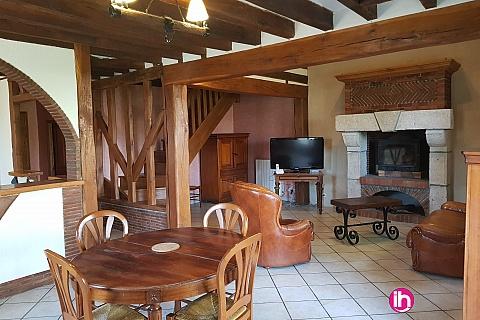 Location pour salarié en déplacement de meublé : 10 MINUTES DE BELLEVILLE Maison de charme 4 chambres 7 lits