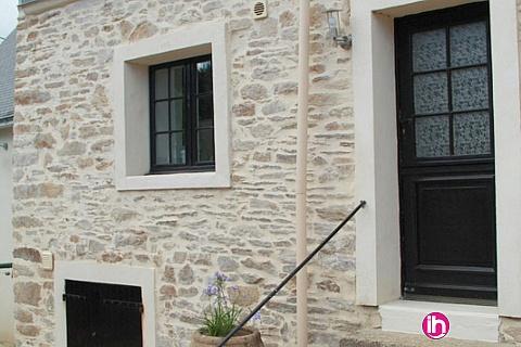 Location pour salarié en déplacement de meublé : Vannes, La Baule, maison pierre rénovée barrage d'Arzal