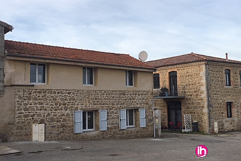 Location pour salarié en déplacement de meublé : Saint Alban, Maison confortable grande capacité, Roisey, Vienne