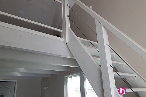 Location de meublé : CIVAUX  joli T1 bis en duplex avec exterieur  Valdivienne Le gaschard