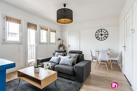 Location pour salarié en déplacement de meublé : BORDEAUX T3 ★Stationnement gratuit★Proche tram