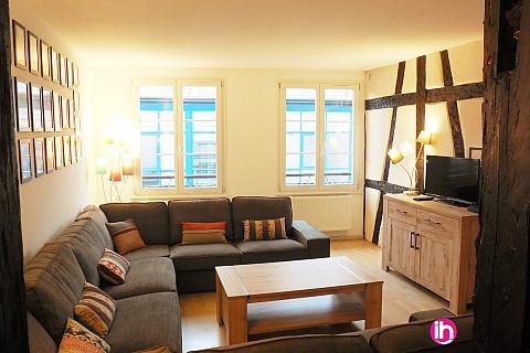 Location pour salarié en déplacement de meublé : COLMAR Appartement 5 chambres + 1 place de parking privé
