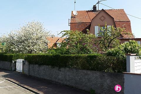 Location pour salarié en déplacement de meublé : COLMAR MULHOUSE Maison à Ungersheim, 15mn Rhin, Suisse et Vignoble pour 2 à 5 salariés.
