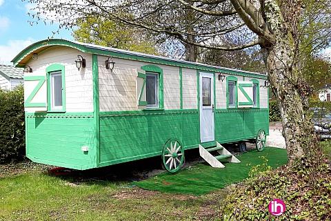 Location pour salarié en déplacement de meublé : Roulotte Innov'Home Verte