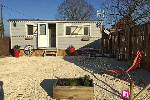 Location pour salarié en déplacement de meublé : Aux portes de la Sologne, La roulotte de Claire vous attends
