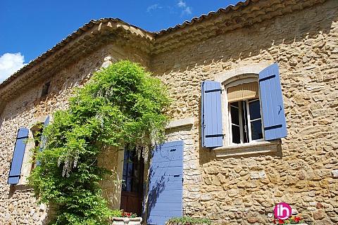 Location de meublé : MARCOULE AVIGNON ORANGE Maison vigneronne du 18ème , Saint Victor Lacoste
