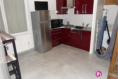 Location de meublé : Civaux-Poitiers  Bel appartement meublé de 45m2 refait à neuf Lhommaize
