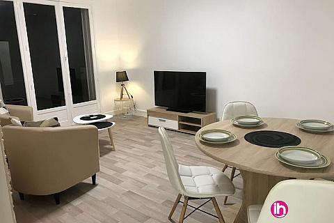 Location pour salarié en déplacement de meublé : LIMOGES Appartement T3 Cosy / Proche mairie
