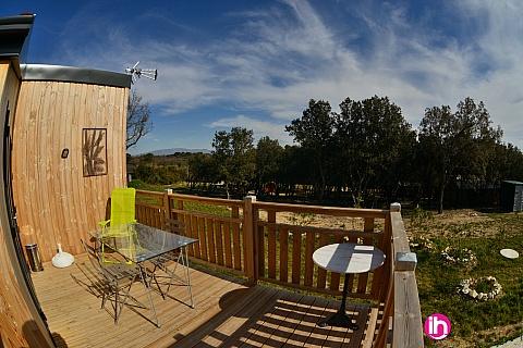 Location de meublé : TRICASTIN BOLLENE PIERRELATTE Chalet bois DENEB Montségur -sur- Lauzon