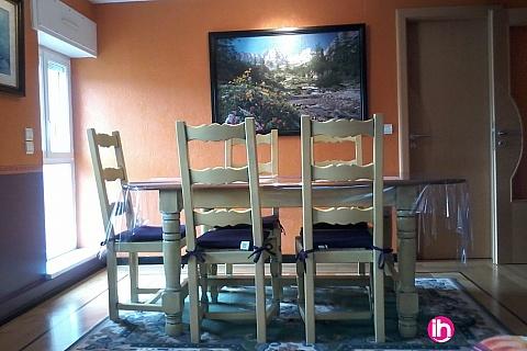 Location de meublé : CATTENOM THIONVILLE SEREMANGE FAMECK Appartement T3 pour 2-3 2eme étage pers à 25 min
