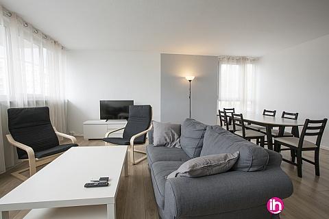 Location pour salarié en déplacement de meublé : Grand appartement proche Rouen (Mont-Saint-Aignan)