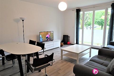 Location pour salarié en déplacement de meublé : LIMOGES Appartement contemporain 4 chambres  lits doubles