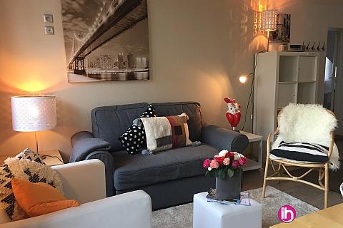 Location pour salarié en déplacement de meublé : TOURS, appartement T3 parfaitement organisé, cosy, paisible hyper centre